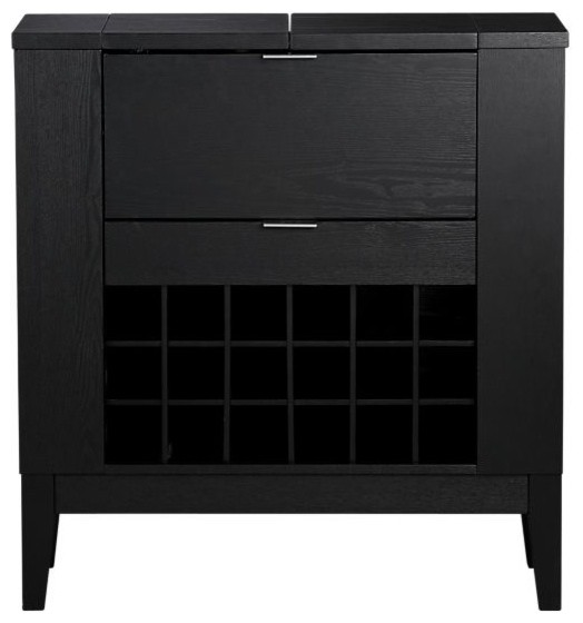 Parker Spirits Ebony Cabinet - Contemporary - China Cabinets And Hutches - by Crate&Barrel
