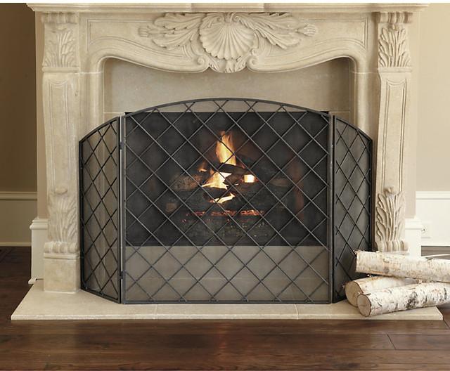 Darboux Fireplace Screen Traditional Fireplace Screens By Ballard Designs