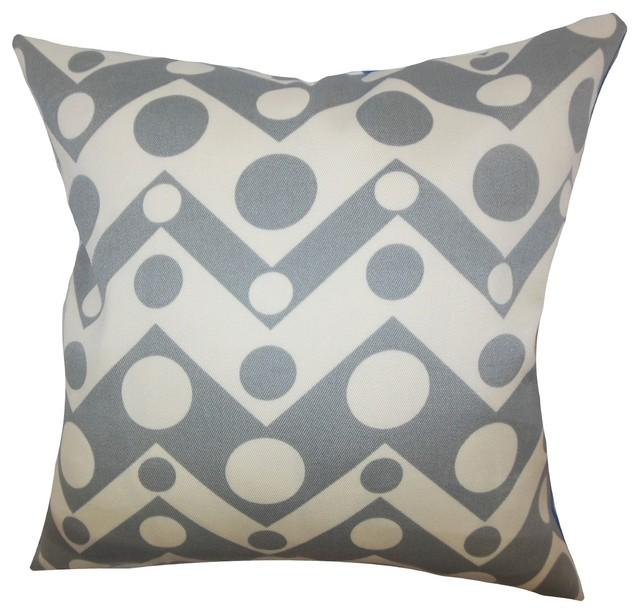 "Quenby Geometric Pillow Grey 18"" x 18"" contemporary-decorative-pillows"
