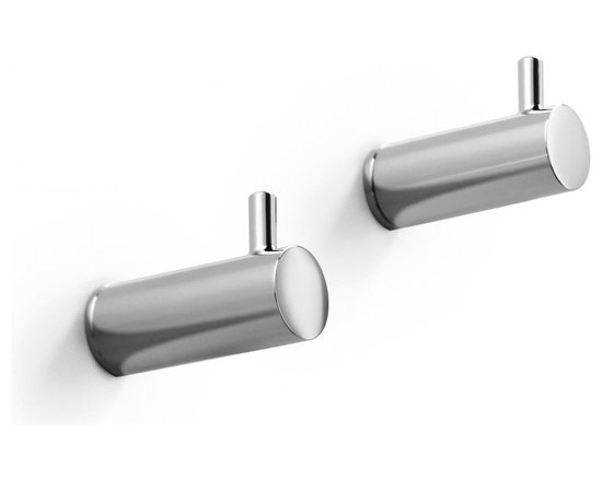 WS Bath Collections - Picola Bathroom Hooks in Polished Chrome - Features: