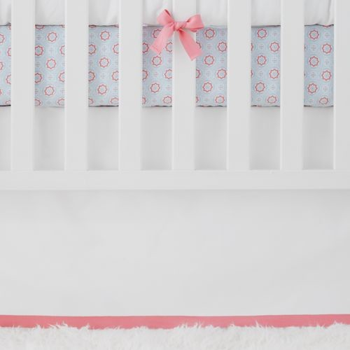 Punch Basics Crib Skirt traditional-diaper-pails-and-stackers