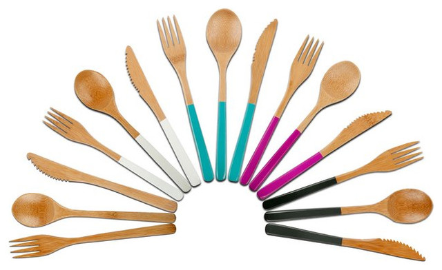 Bamboo Wood Cutlery contemporary kitchen tools
