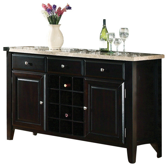 Top Server W Wine Rack: Steve Silver Monarch Marble Top Server With Wine Rack