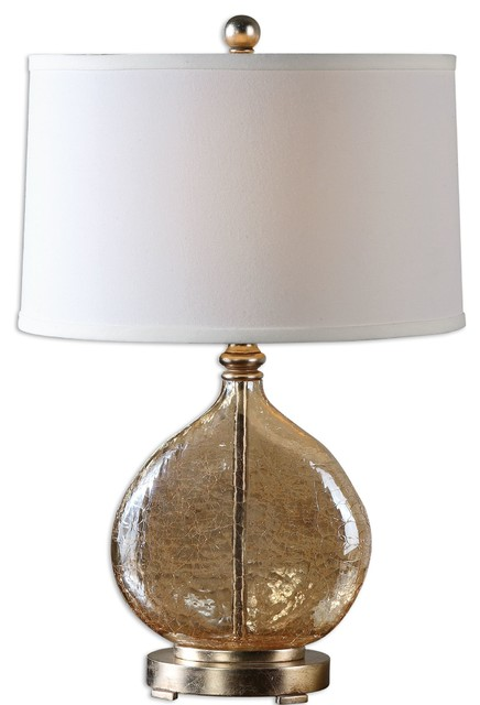 Uttermost Arielli Amber Glass Lamp 26478-1 contemporary-table-lamps
