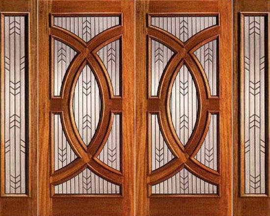 """Mahogany Prehung Double Door and Two Sidelite, Triple Glazed, Circle - SKU#PL-01_2-2BrandAAWDoor TypeExteriorManufacturer CollectionBudget DoorsDoor ModelDoor MaterialWoodWoodgrainMahoganyVeneerPrice4160Door Size Options2(30"""")+2(12"""") x 80"""" (7'-0"""" x 6'-8"""")  $02(36"""")+2(12"""") x 80"""" (8'-0"""" x 6'-8"""")  +$402(30"""")+2(12"""") x 96"""" (7'-0"""" x 8'-0"""")  +$9802(36"""")+2(12"""") x 96"""" (8'-0"""" x 8'-0"""")  +$1020Core TypeSolidDoor StyleCircle , ModernDoor Lite StyleRadius LiteDoor Panel StyleHome Style MatchingContemporary , VictorianDoor ConstructionEngineered Stiles and RailsPrehanging OptionsPrehungPrehung ConfigurationDouble Door with Two SidelitesDoor Thickness (Inches)1.75Glass Thickness (Inches)3/4Glass TypeTriple GlazedGlass CamingBlackGlass FeaturesTempered , Insulated , BeveledGlass StyleGlue ChipGlass TextureGlass ObscurityDoor FeaturesDoor ApprovalsDoor FinishesDoor AccessoriesWeight (lbs)1190Crating Size25"""" (w)x 108"""" (l)x 52"""" (h)Lead TimeSlab Doors: 7 daysPrehung:14 daysPrefinished, PreHung:21 daysWarranty"""