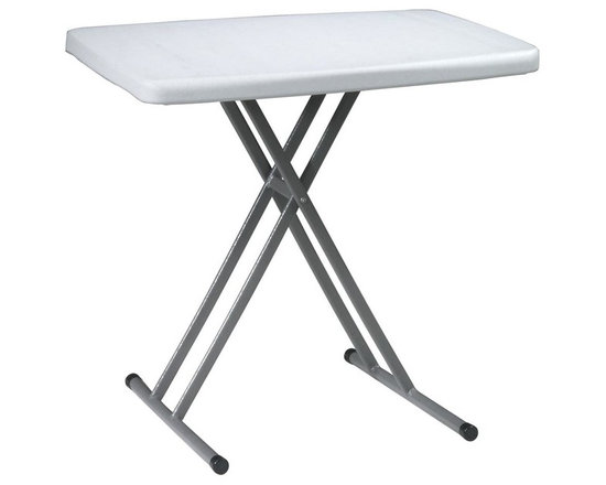 Office Star - Multi Purpose Personal Training Table - Set o - Adjustable height tray . Table top resin material. Adjusts from 28 in. to 13.5 in. in six steps. 30 in. W x 19.5 in. L x 28 in. H