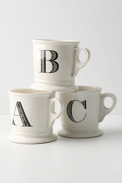 Monogrammed Mugs contemporary dinnerware