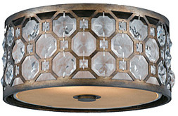 Cartier 2-light Flushmount in Weathered Bronze | Overstock.com mediterranean-flush-mount-ceiling-lighting