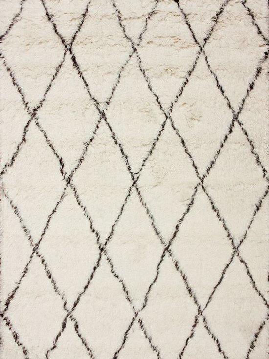 Tuscan Moroccan Shag Ivory Rug -