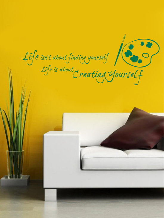 Vinyl Decals Life is Creating Yourself Art Palette Quote Home Wall Art Decor Rem -