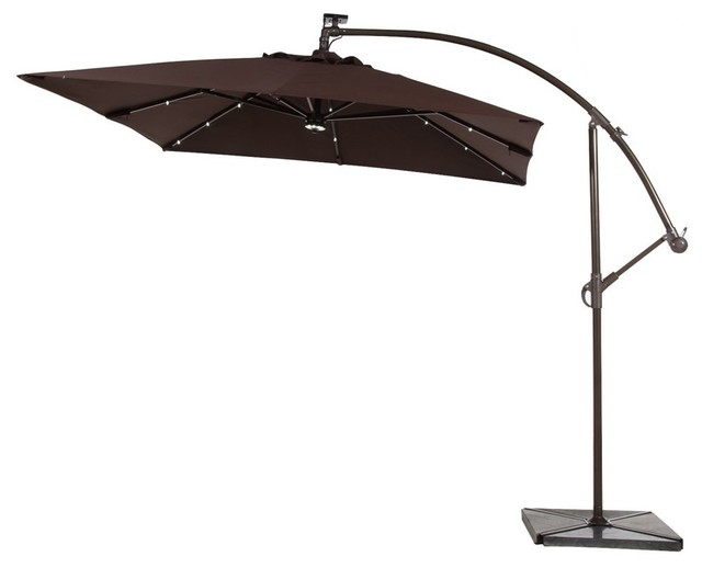 abba patio 8 ft solar powered 32 led cantilever patio