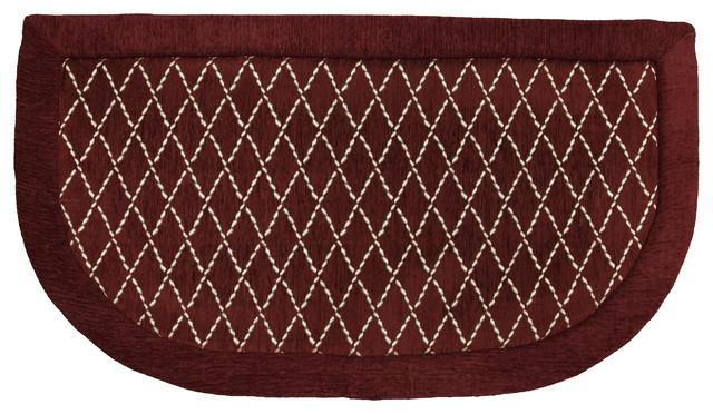Diamond Lattice Memory Foam Kitchen Slice Rug (1'8 x 3') contemporary-doormats