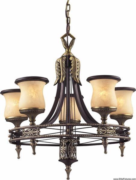 Elk Lighting 2435/5 5 Light Chandelier Georgian Court Collection