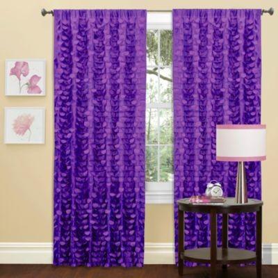 gigi window curtain panel in purple contemporary
