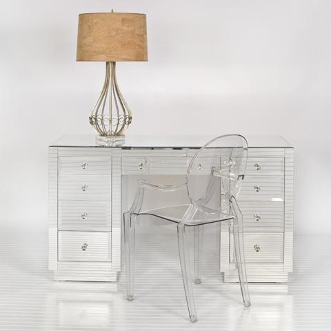 Worlds Away Phillip Mirrored Desk Traditional Desks