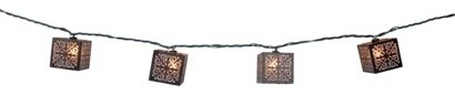 Threshold Burnished Metal Square String Lights contemporary-outdoor-lighting