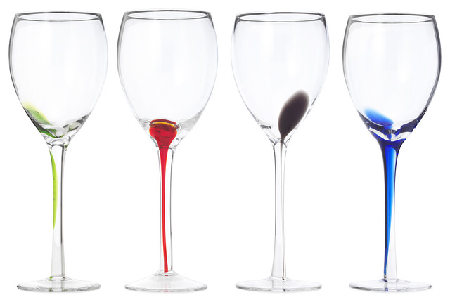 Splash Wineglasses, Set of 4 wine-glasses
