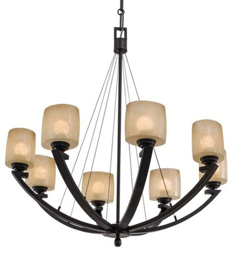 Minka Lavery ML 1188 8 Light 1 Tier Suspension Chandelier from the Radius Collec transitional-chandeliers