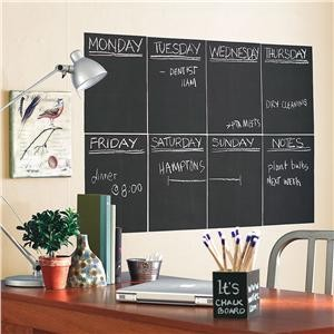 Peel and Stick Chalkboard Panels modern bulletin board