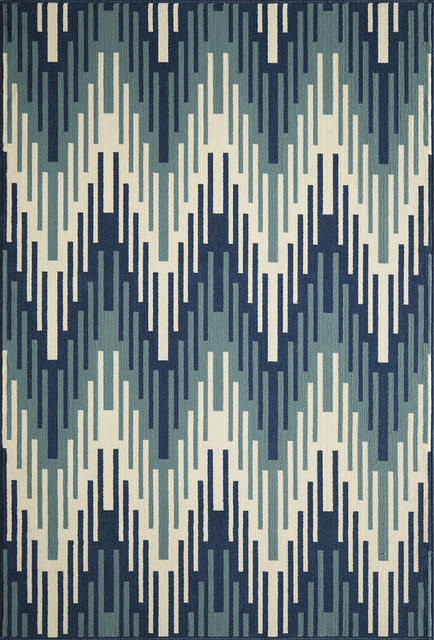"Momeni Baja 2'3""x4'6"" Blue Rug contemporary-rugs"