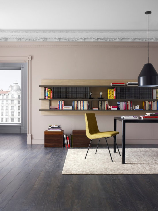Mixte - Ligne Roset - Mixte wall system, TV chair, Slats storage boxes