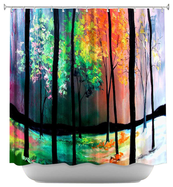 Shower Curtain Artistic The Four Seasons Contemporary Shower Curtains By Dianoche Designs