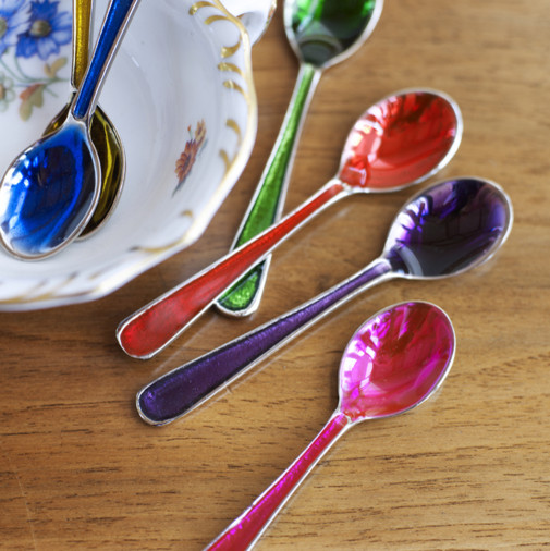 Small Jewelled Spoons eclectic flatware