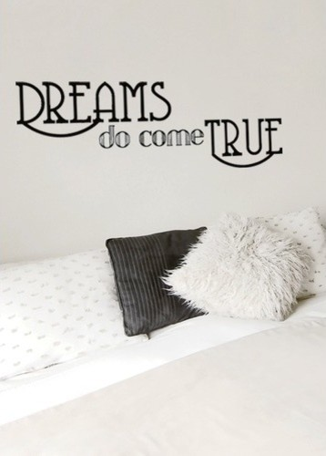 Wall Wisdom Dreams Do Come True modern-wall-decals