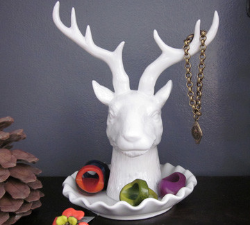 Deerhead Jewelry Holder eclectic bath and spa accessories