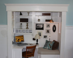 office/reading nook eclectic
