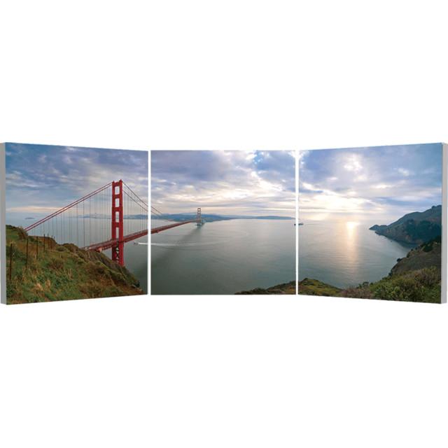 Elementem Photography Golden Gate Bridge Triptych Wall Art contemporary-artwork