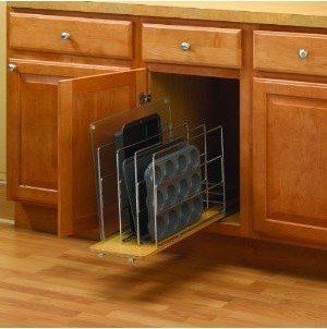 """9"""" Knape & Vogt TDRO Tray Divider Roll-Out - Wood-Wire - Frosted Nic kitchen-drawer-organizers"""