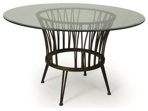 Pastel Metropolitan Glass Top Dining Table contemporary-dining-tables