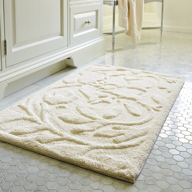 floral bath rug traditional bath mats