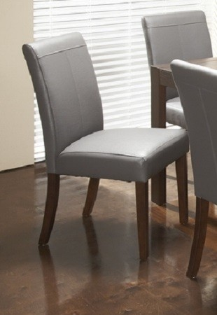 roberto grey leather dining chair modern dining chairs toronto by inspired home decor. Black Bedroom Furniture Sets. Home Design Ideas