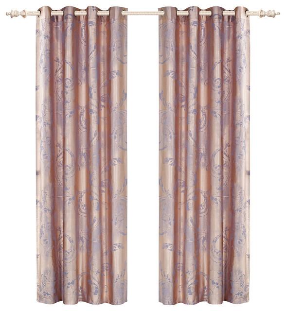 Dolce Mela DMC465 Window Treatment Damask Drapes Pandora Curtain Panel traditional-curtains