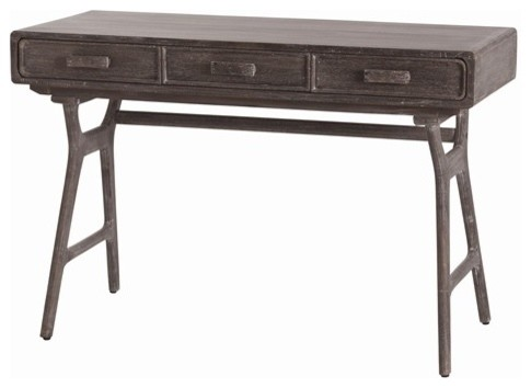 Arteriors Phillip Mushroom Wood Desk contemporary-side-tables-and-end-tables