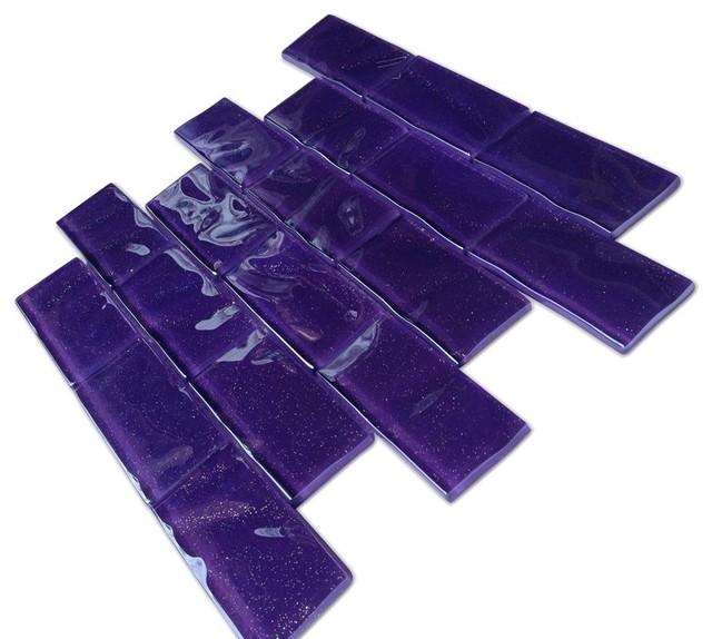 Sparkle Elixir Glass Tile contemporary-tile