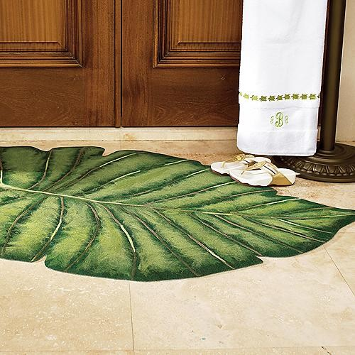 """Palm Frond Indoor Outdoor Rug 6 x 9 6"""" Frontgate"""