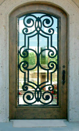 Single Iron Doors front-doors