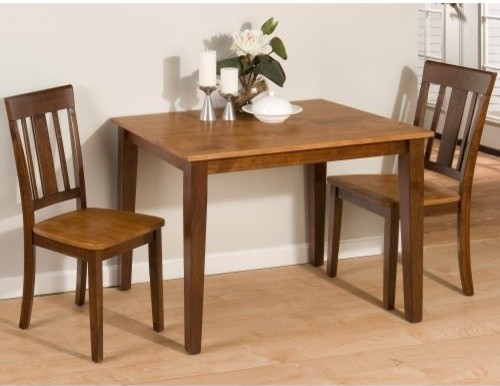 jofran kura canyon 3 piece small dining table set modern