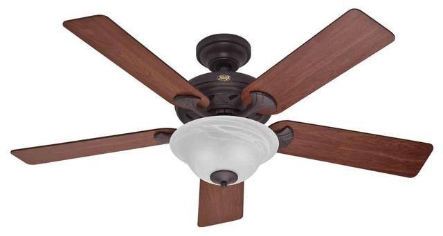 """Hunter Fan Company 22465 The Brookline New Bronze 52"""" Ceiling Fan traditional-ceiling-fans"""