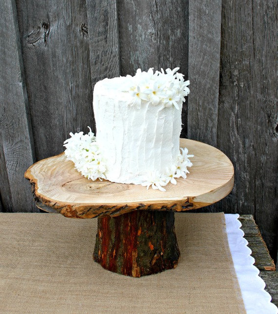 Rustic Wedding Cake Stand By Rustic Wedding Shop eclectic-dessert-and-cake-stands