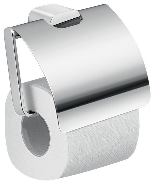 Modern Brass And Cromall Square Toilet Paper Holder With