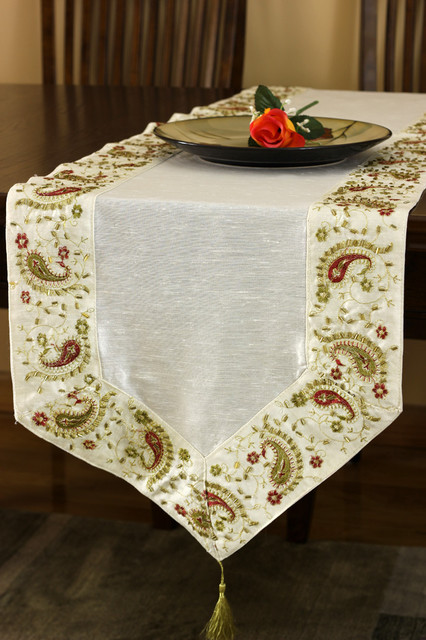 Elegant Table Runners Tropical Table Runners Boston By Banarsi