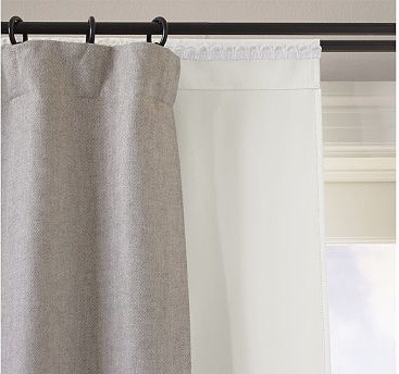 blackout drape liner 46 x 92 traditional curtains