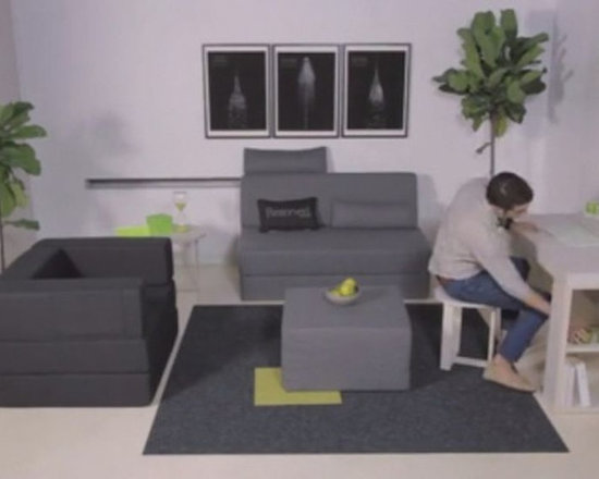 Living Room - Love NYC? You'll fall in love with this collection of transforming furniture designed for small city spaces!