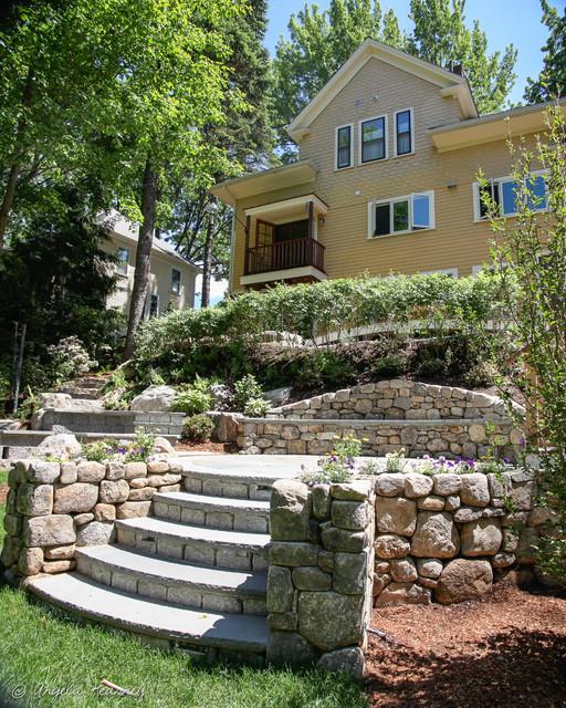 Hillside Garden With Gazebo Amp Terraced Patios