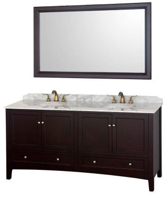 Wyndham Collection Audrey 72 in. Bathroom Vanity in Espresso with Double Sink Ma contemporary-bathroom-vanities-and-sink-consoles