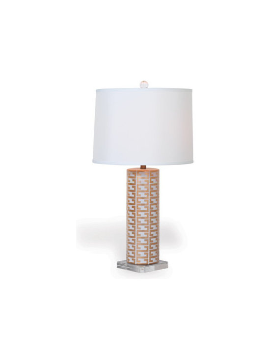"Cameron White Lamp 34"" -"